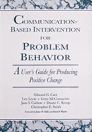 Communication‐Based Intervention for Problem Behavior: A User's Guide for Producing Positive Change